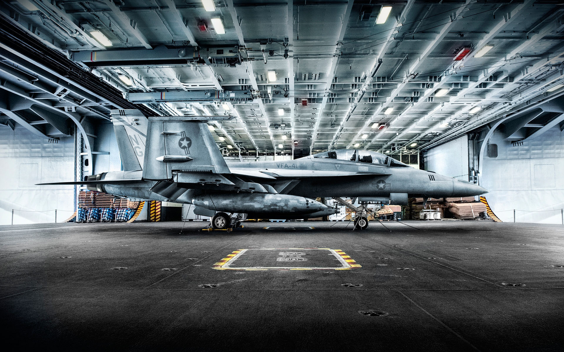 Aircraft Carrier F18 Editorial photography