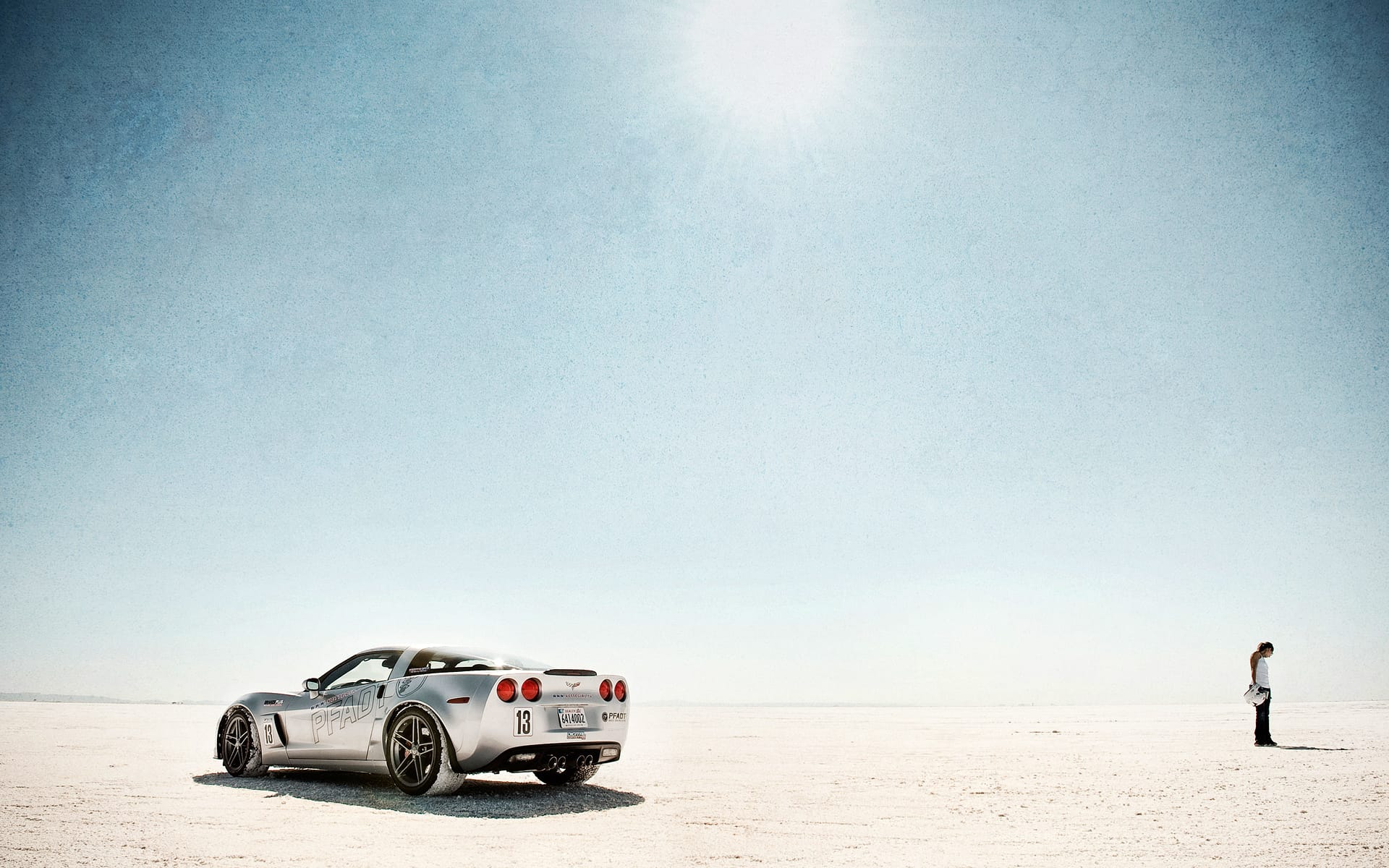 Corvette at Bonneville